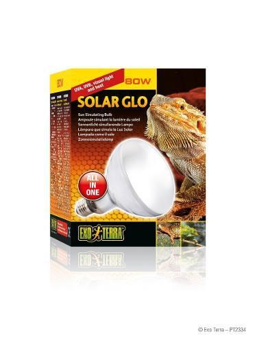 Exo Terra Solar Glo 80w - Foco 2 En 1 Calor Y Uvb