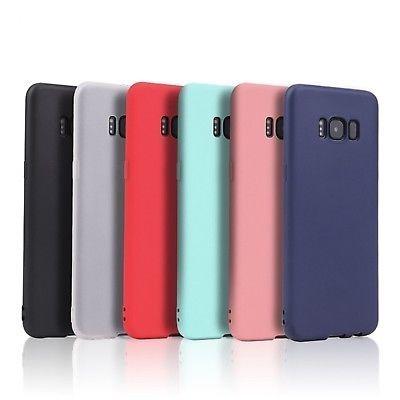 Funda Ultra Slim Silicon Samsung S6 S7 Edge S8 S9 + Note 8 9