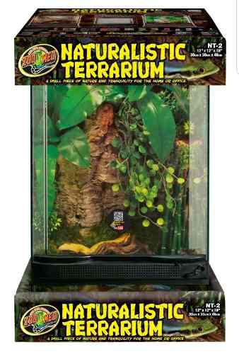 Habitat Terrario Vidrio Con Puerta Ventilado Reptiles
