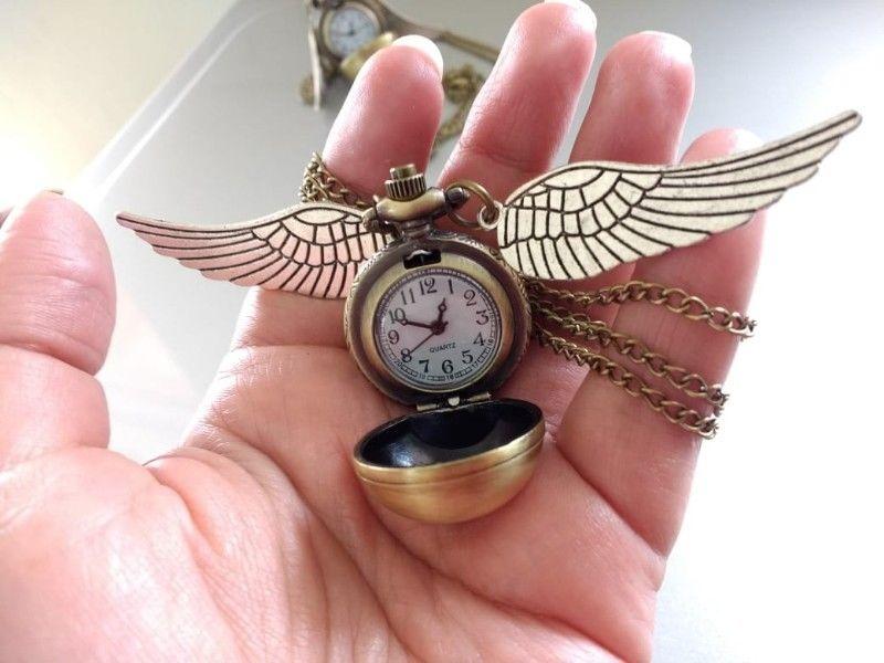 Snitch dorada reloj collar nuevos