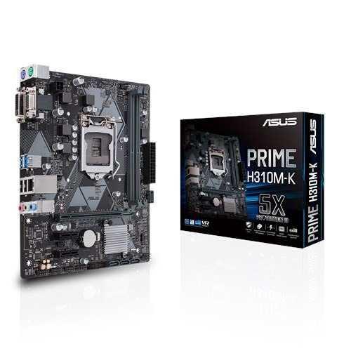 Tarjeta Madre Asus Prime H310m-k Intel 8va 1151 Ddr4