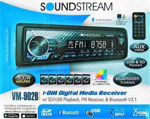 Auto Estereo Soundstream Vm-902b Bluetooth Android Multicolo