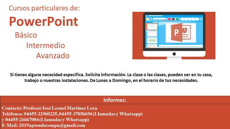 Clases particulares de PowerPoint a Domicilio o trabajo