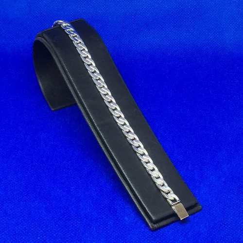Esclava Pulsera Plata 925 Tejido Cubano 19gr19.5cmx6mm Pul01