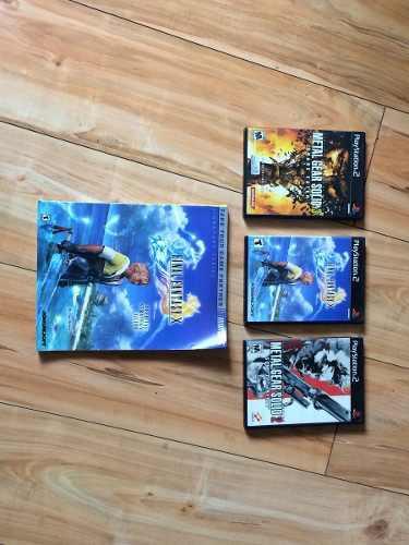 Metal Gear Solid 2,3 Final Fantasy X Sin La Guía
