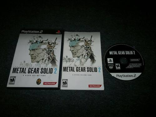 Metal Gear Solid 2 Completo Play Station 2,excelente Titulo