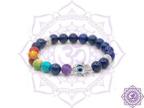 Pulsera 7 Chakras Lapis Lazuli Fatima- Protección Energía