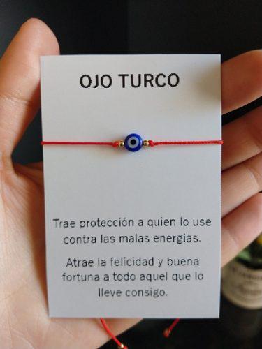 Pulsera De Hilo Con Ojo Turco Proteccion Energia Amuleto