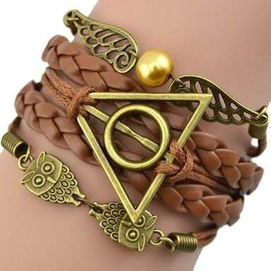 Pulsera Harry Potter Snitch Y Lechuza