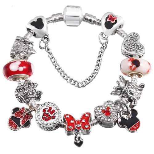 Pulsera Pandora Disney Mickey Minnie 12 Charms Envio Gratis