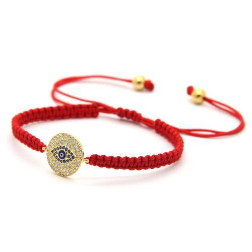 Pulsera Tibetana Roja Amuleto Macrame Ojo Turco Proteccion