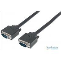 Cable Vga Manhattan Para Monitor O Proyector 1.8 Mts Negro