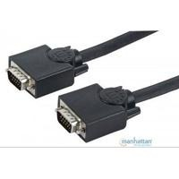 Cable Vga Manhattan Para Monitor O Proyector 15 Mts Negro