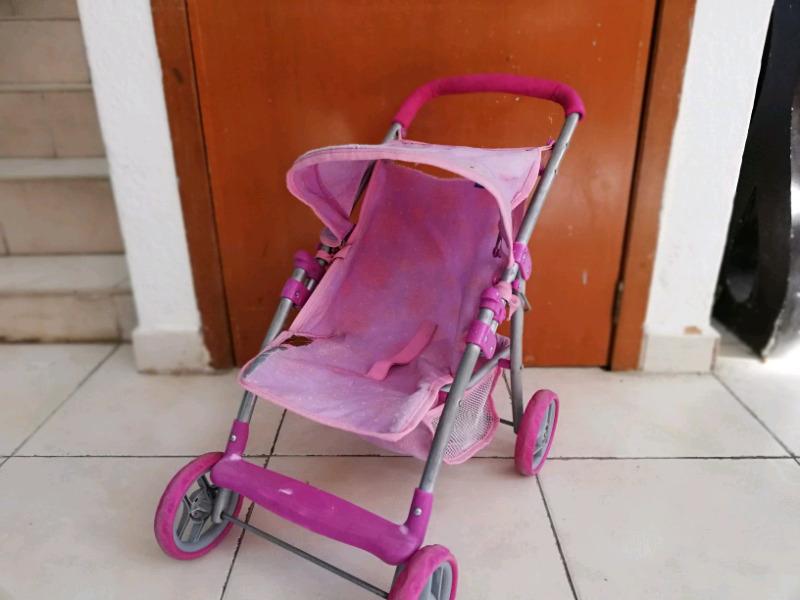 Carreola carriola marca prinsel para muñecas con detalle
