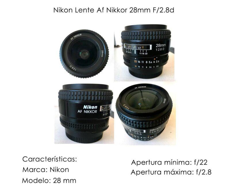 Lente Nikon Af Nikkor 28 mm