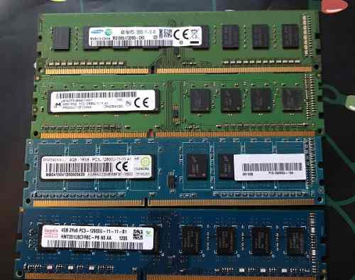 4 Memoria Ram Pc Pcu 4gb Cada Una Ddr3 Samsung 16gb