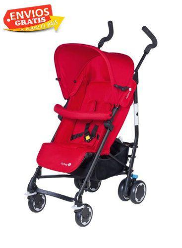 Carreola Bebe Baston Safety Compacity Rojo Msi