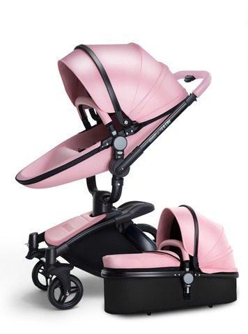 Carreola Europea De Lujo Con Bambineto + Regalo Pink
