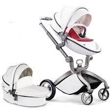 Carreola Hotmom Bebe Europea Hot Mom Piel Carriola Blanca