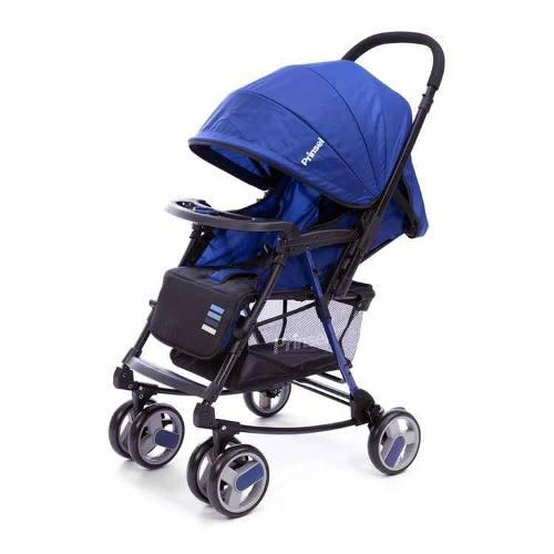 Carriola 2 En 1 Mecedora Para Bebe Prinsel Twister Azul Msi