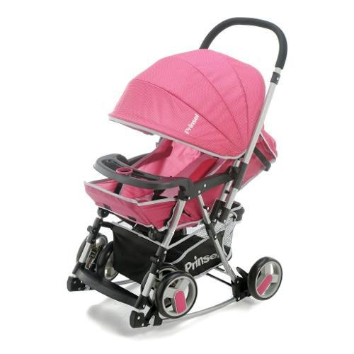 Carriola 2 En 1 Mecedora Para Bebe Prinsel Twister Rosa
