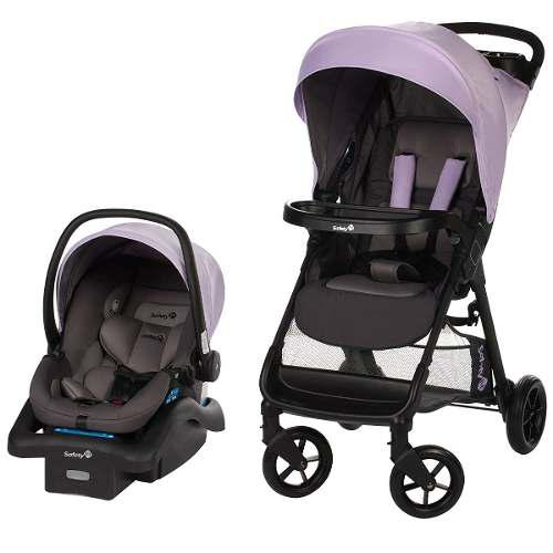 Carriola + Asiento Portabebé Safety 1st Smooth Ride -lila