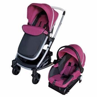 Carriola D'bebé Travel System Crown Rosa