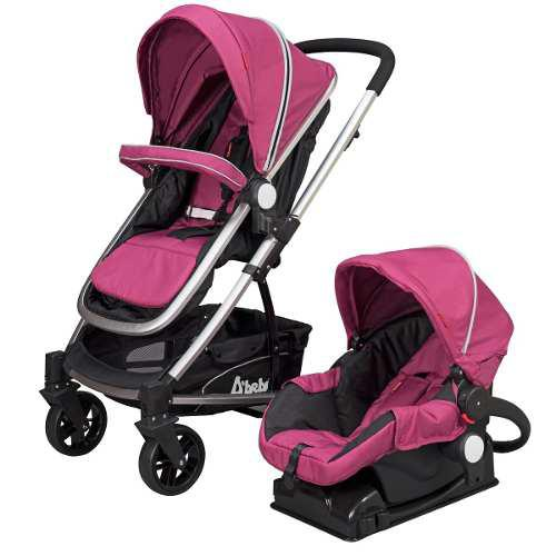 Carriola Dbebe Crown Rosa Con Portabebe Con Base Para Auto