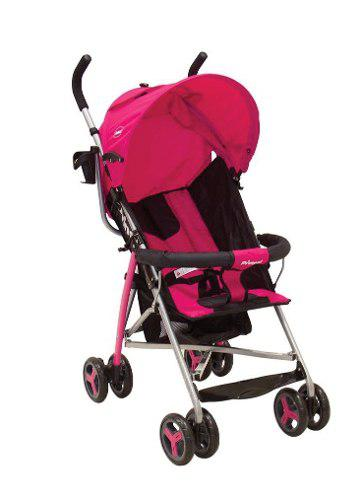 Carriola De Baston Prinsel Plus Ligera Compacta - Rosa/negro