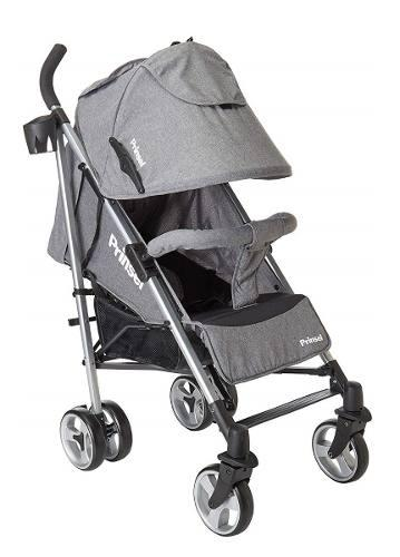 Carriola De Baston Prinsel Pulsar Reclinable Plegable - Gris