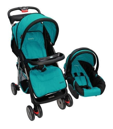 Carriola De Bebe Con Portabebe Infanti Lenni Azul