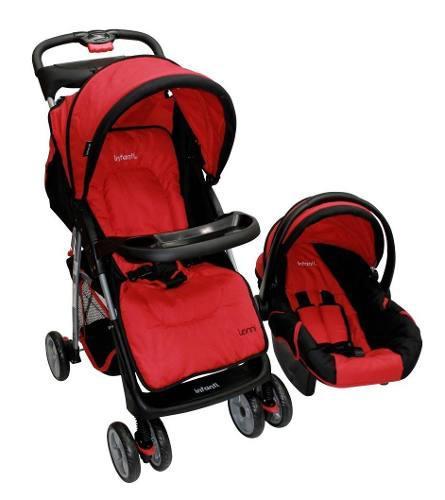 Carriola De Bebe Con Portabebe Infanti Lenni Roja