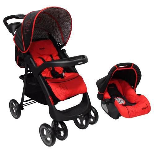Carriola De Bebe Infanti E18 + Portabebe/autoasiento- Roja