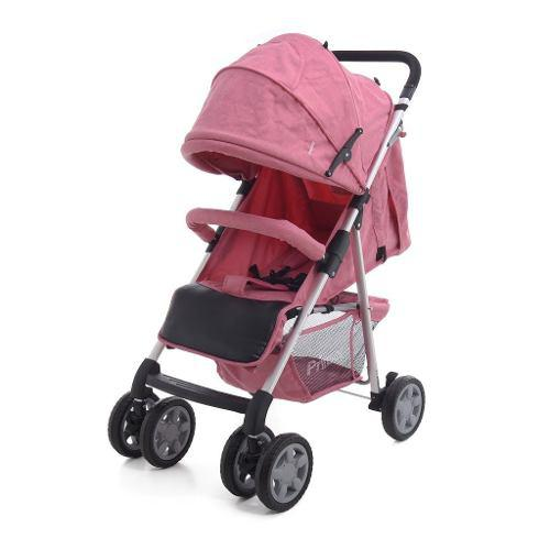 Carriola De Bebe Prinsel Barcelona Reclinable Rosa