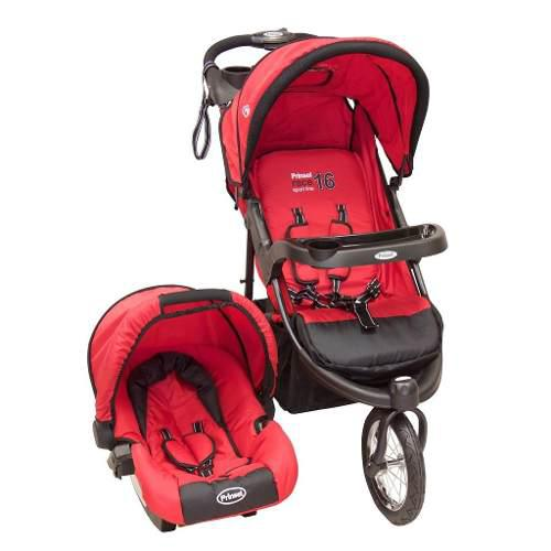 Carriola De Bebe Prinsel Fox Air Portababe Llantas Aire Roja