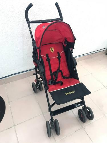 Carriola Para Bebé Marca Ferrari Roja Con Negro Seminueva
