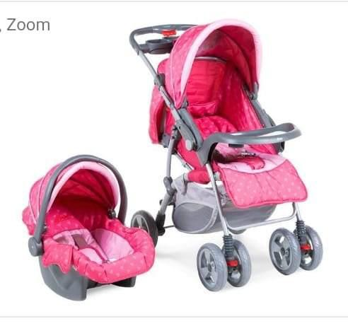 Carriola Para Bebe Travel Color Rosa