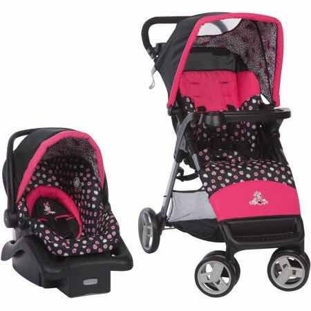 Carriola & Porta Bebé Minnie Mouse Disney Travel System