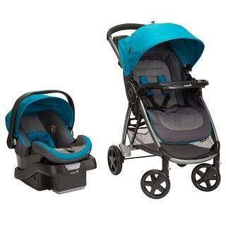 Carriola Step And Go Con Autoasiento Safety 1st | Azul/rojo