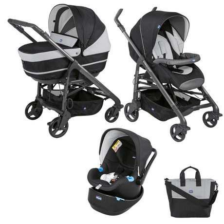 Carriola Trio Love Motion Chicco Set Completo Msi