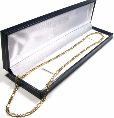 Cadena Figaro 3 X 1 Oro Macizo 14k 60cm. 10grs Y 3.5mm Ancho