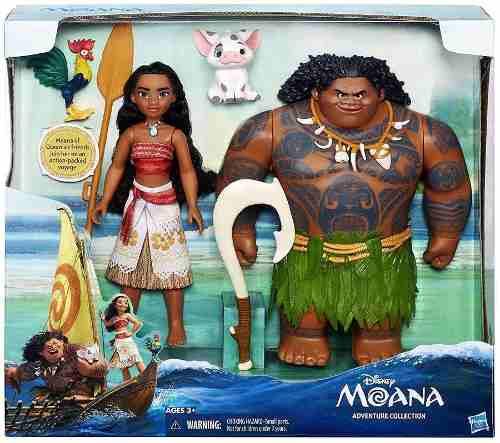 Disney Moana Pack Muñecos Moana Y Maui 30cm