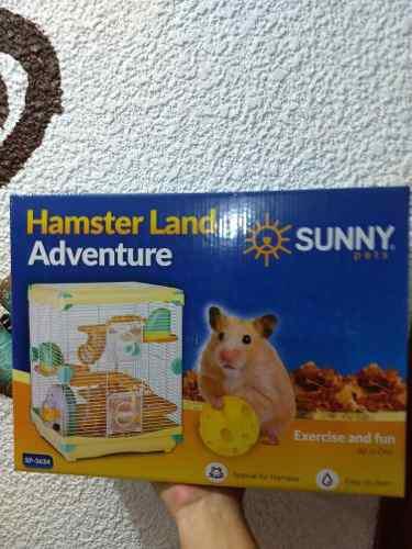 Jaula Hamster Sunny 36x27x42.5cm Amarilla