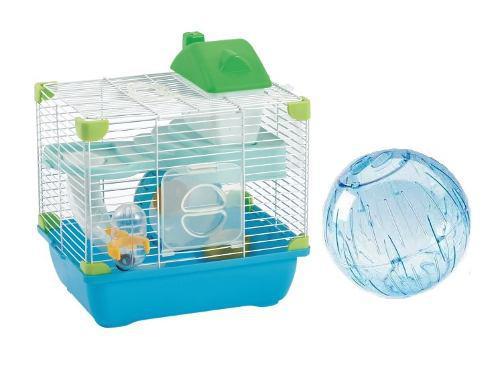 Jaula Plastica Hamster Sunny 28.9x22.2x30.1 + Esfera 18 Cm