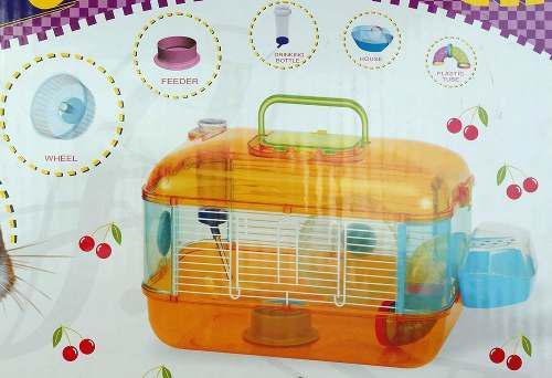 Jaula Plastica Para Hamster 40x26x26 Varios Colores