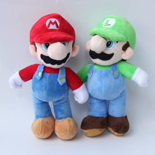 2 Peluches De Mario Y Luigi 25 Cm Super Mario Bros Nintendo