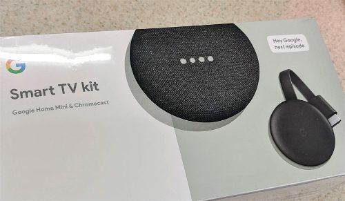 Google Chromecast 3 + Home Mini Negro Smart Tv Kit Sellado