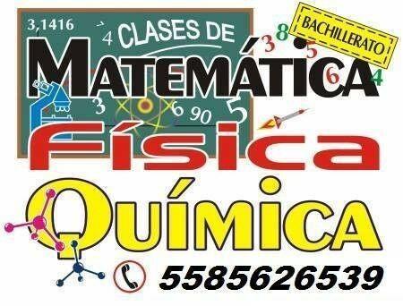 Matemáticas, física, química y más clases a domicilio