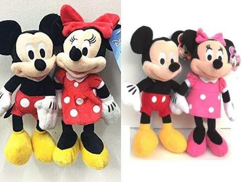 Parejita Mickey Y Minnie Mouse Peluche 24 Cm Disney