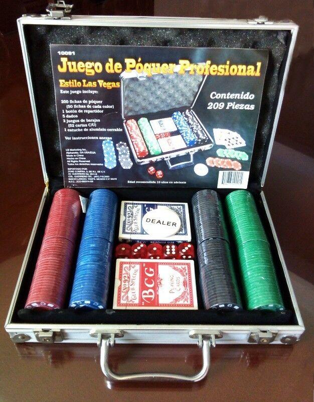 REMATO Set de poker profesional 200 fichas NUEVO